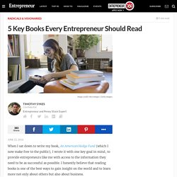 5 Key Books Every Entrepreneur Should Read