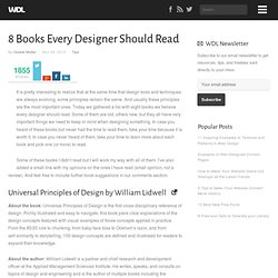 8 Books Every Designer Should Read
