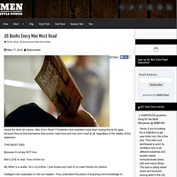 26 Books Every Man Must Read