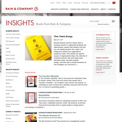 Books from Bain & Company