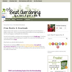 Free Books and PDFs on Gardening and Homesteading