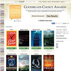 Best Books 2012 — Goodreads Choice Awards