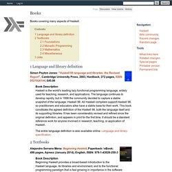 Books - HaskellWiki
