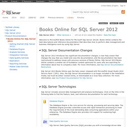 Books Online for SQL Server 2012