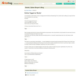 Opher Brayer's Blog by Opher Brayer
