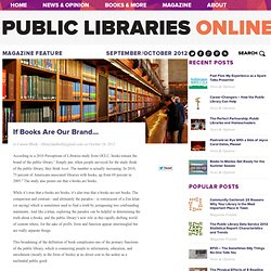 PLA - If Books Are Our Brand. . . | Public Libraries Online