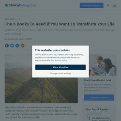 Reading These 5 Books Will Change Your Life