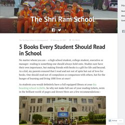 5 Books Every Student Should Read in School – The Shri Ram School