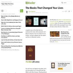 The Books That Changed Your Lives