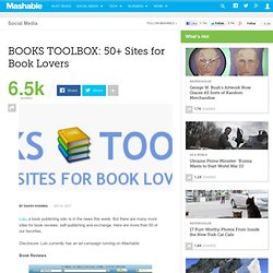BOOKS TOOLBOX: 50+ Sites for Book Lovers