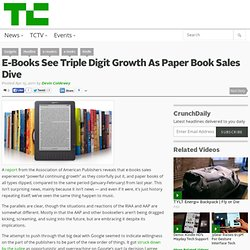 E-Books See Triple Digit Growth As Paper Book Sales Dive