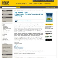 IRA Books : The Writing Thief: Using Mentor Texts to Teach the Craft of Writing