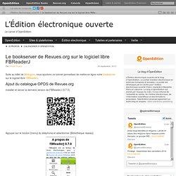 Le bookserver de Revues.org sur le logiciel libre FBReaderJ