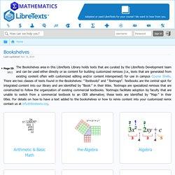 Bookshelves - Mathematics LibreTexts