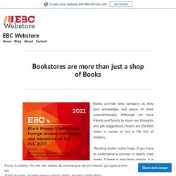 Bookstores are more than just a shop of Books