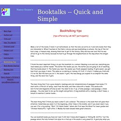 Booktalking tips