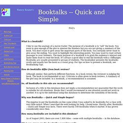 Booktalks Quick and Simple