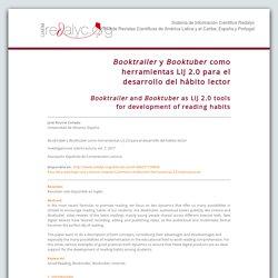 Booktrailer y Booktuber como herramientas LIJ 2.0 para el desarrollo del hábito lector