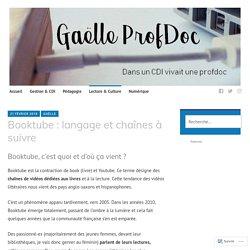 Booktube : langage et chaînes à suivre – Gaëlle ProfDoc