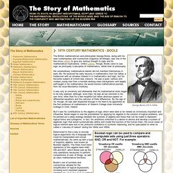Boole - 19th Century Mathematics