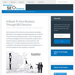 A Boom To Your Business Through SEO Services