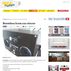 Boombox from car stereo