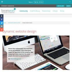 Dynamic website design