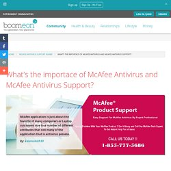 What's the importace of McAfee Antivirus and McAfee Antivirus Support?