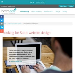Looking for Static website design