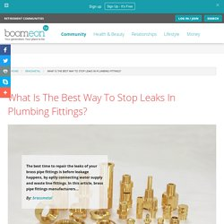 What Is The Best Way To Stop Leaks In Plumbing Fittings?