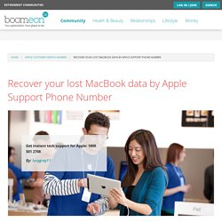 Recover your lost MacBook data by Apple Support Phone Number