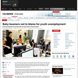 Baby boomers not to blame for youth unemployment - Canada