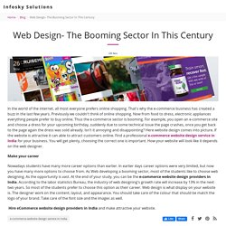 Web Design- The Booming Sector In This Century - Infosky Solutions