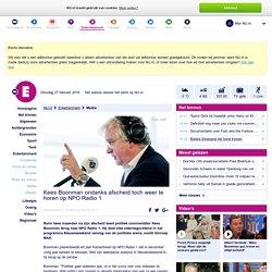 Kees Boonman ondanks afscheid toch weer te horen op NPO Radio 1