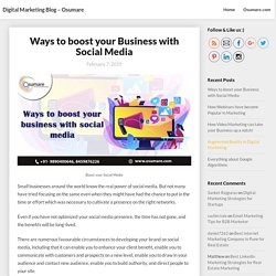 Ways to boost your Business with Social Media