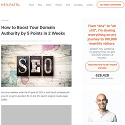 How to Boost Your Domain Authority by 5 Points in 2 Weeks