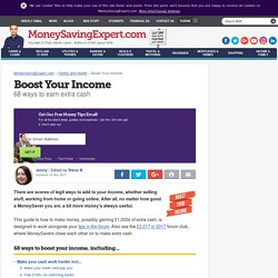 Boost Your Income: Make money on the side