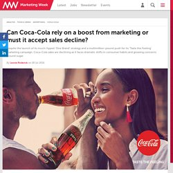 Can Coca-Cola rely on a boost from marketing or must it accept sales decline?