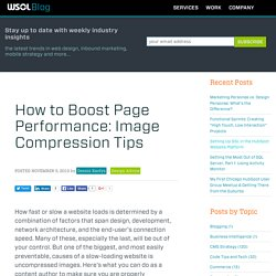 How to Boost Page Performance: Image Compression Tips