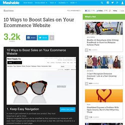 10 Ways to Boost Sales on Your Ecommerce Website