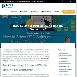 How to Boost PPC Sales on Special Occasions?