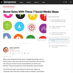 Boost Sales With These 7 Social Media Steps