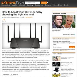 How to boost your WiFi speed by choosing the right channel