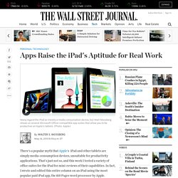iPad Apps to Boost the Tablet's Productivity Level