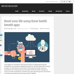 Boost your life using these health benefit apps