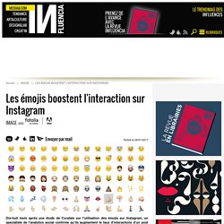 Les émojis boostent l'interaction sur Instagram