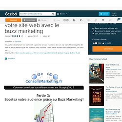 Booster l'audience de votre site web avec le buzz marketing