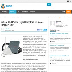 Robust Cell Phone Signal Booster Eliminates Dropped Calls