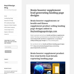 Brain booster product selling landing page