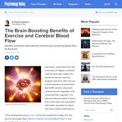 The Brain-Boosting Benefits of Exercise and Cerebral Blood Flow